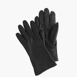 J. Crew Cashmere-Lined Leather Tech Gloves